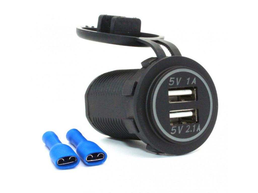 usb outlet in passenger trains USB Charger socket for transport 2USB 3.1A green backlight TUC-CB23-BLK-GRN