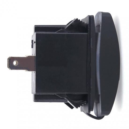 Dual USB Socket Charger 2 USB 3.1A green backlight TUC-RA23-BLK-GRN