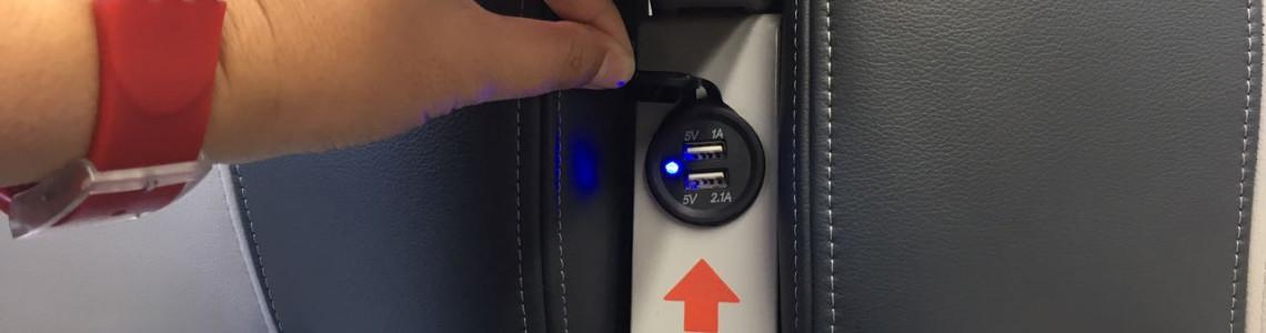 USB chargersocketfor passenger train